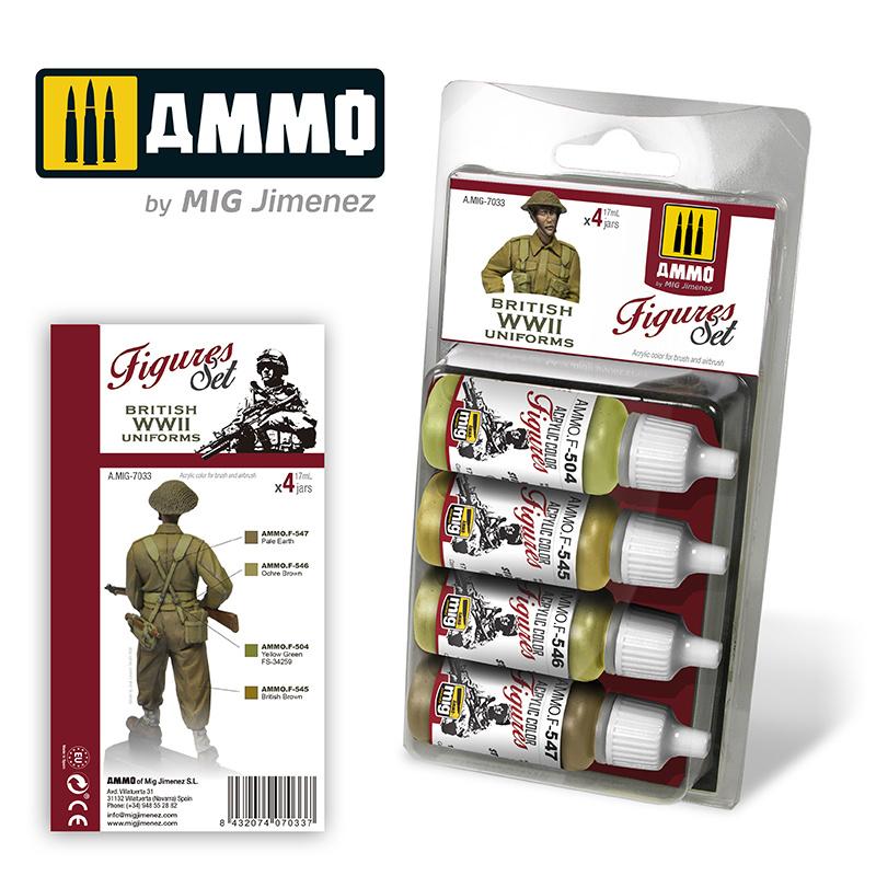 Ammo by Mig Jimenez British Uniforms WWII. Figures Set - Ammo by Mig Jimenez - A.MIG-7033