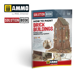 How To Paint Brick Buildings. Colors And Weathering System. Solution Book - Multilingual Book - Ammo by Mig Jimenez - A.MIG-6510