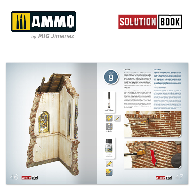 Ammo by Mig Jimenez How To Paint Brick Buildings. Colors And Weathering System. Solution Book - Multilingual Book - Ammo by Mig Jimenez - A.MIG-6510