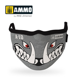 "Ammo Face Mask ""A10 Warthog"" (Hygienic Protective Mask 100% Polyester) - Ammo by Mig Jimenez - A.MIG-8065"