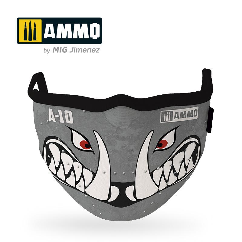 "Ammo by Mig Jimenez Ammo Face Mask ""A10 Warthog"" (Hygienic Protective Mask 100% Polyester) - Ammo by Mig Jimenez - A.MIG-8065"
