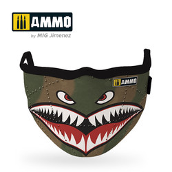 "Ammo Face Mask ""Shark"" (Hygienic Protective Mask 100% Polyester) - Ammo by Mig Jimenez - A.MIG-8066"