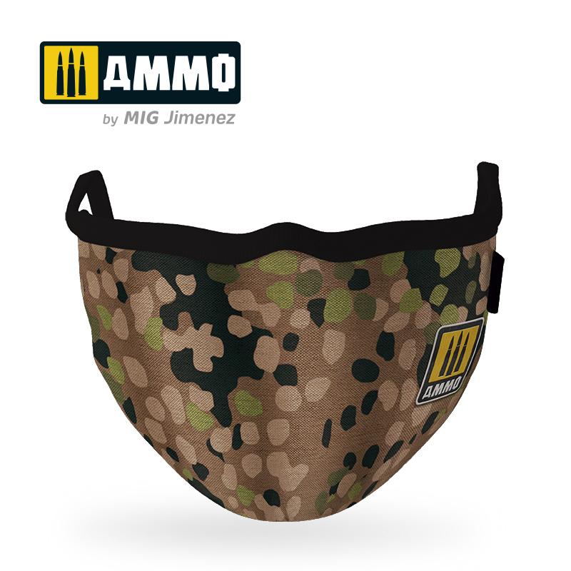 "Ammo by Mig Jimenez Ammo Face Mask ""Erbsenmuster"" (Hygienic Protective Mask 100% Polyester) - Ammo by Mig Jimenez - A.MIG-8067"