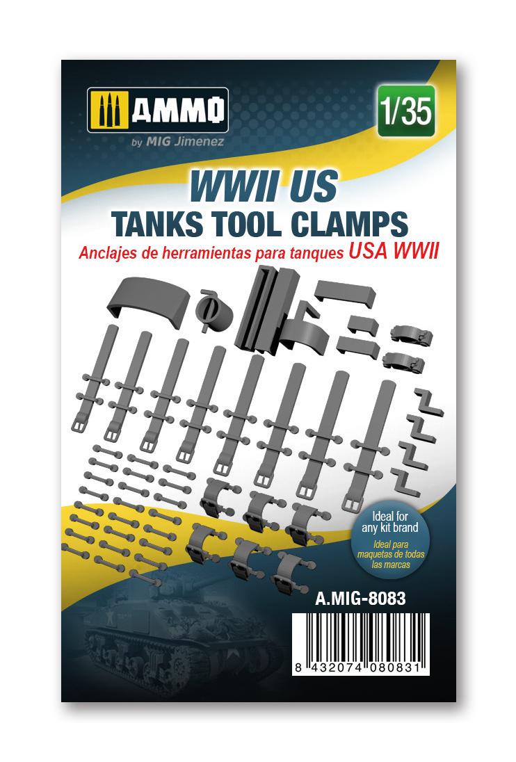 Ammo by Mig Jimenez WWII US tanks tool clamps - Ammo by Mig Jimenez - A.MIG-8083