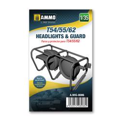 T54/55/62 headlights & guard - Ammo by Mig Jimenez - A.MIG-8086