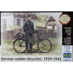 German Soldier-Bicyclist, 1939-1942 - Scale 1/35 - Masterbox - MBLTD35171