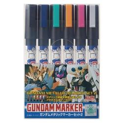 Gundam Metallic Marker Set 2 - Mr Hobby - Gunze - MRH-AMS-125