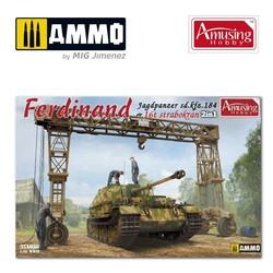 Sd.Kfz.184 Ferdinand & 16T Strabokran - Scale 1/35 - Amusing Hobby - AH35A030