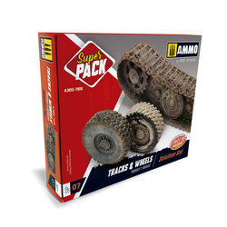 Tracks & Wheels. Super Pack - Ammo by Mig Jimenez - A.MIG-7808