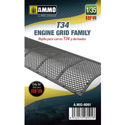 T34 Engine Grid Family - Scale 1/35 - Ammo by Mig Jimenez - A.MIG-8091