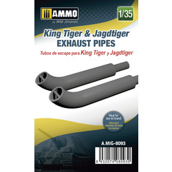 King Tiger & Jagdtiger Exhaust Pipes - Scale 1/35 - Ammo by Mig Jimenez - A.MIG-8093