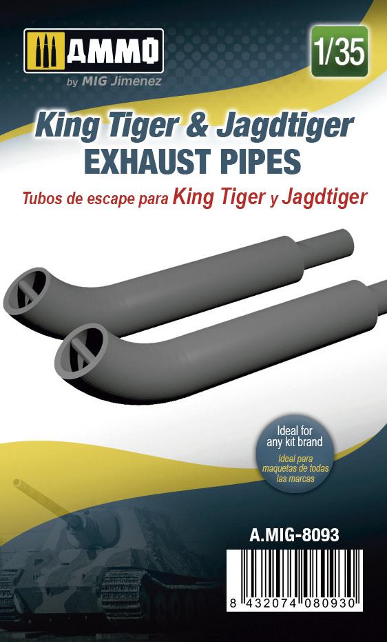 Ammo by Mig Jimenez King Tiger & Jagdtiger Exhaust Pipes - Scale 1/35 - Ammo by Mig Jimenez - A.MIG-8093