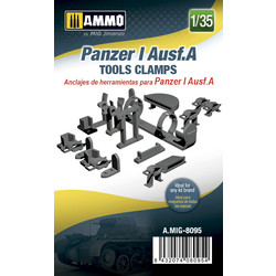 Panzer I Ausf.A Tools Clamps - Scale 1/35 - Ammo by Mig Jimenez - A.MIG-8095