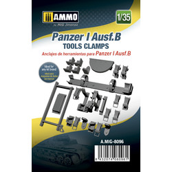 Panzer I Ausf.B Tools Clamps - Scale 1/35 - Ammo by Mig Jimenez - A.MIG-8096