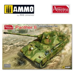 Panther II Prototype Design - Scale 1/35 - Amusing Hobby - AH35A012