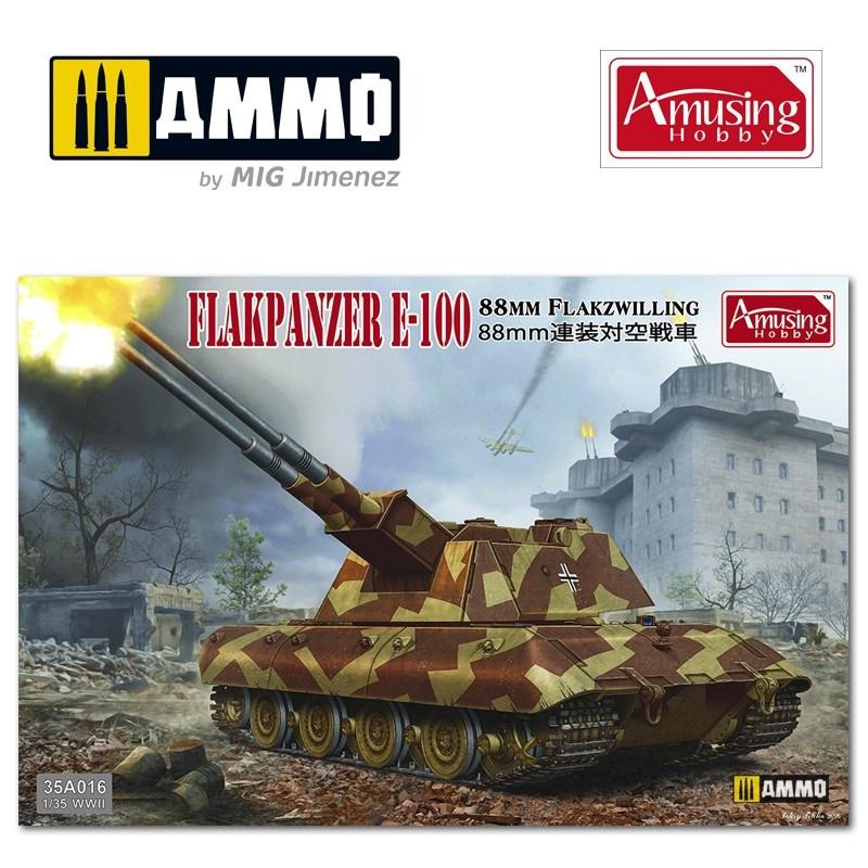 Amusing Hobby 8,8Cm Flakpanzer E-100 - Scale 1/35 - Amusing Hobby - AH35A016