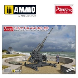 12,8Cm Flak40 With Fumg 39D - Scale 1/35 - Amusing Hobby - AH35A020
