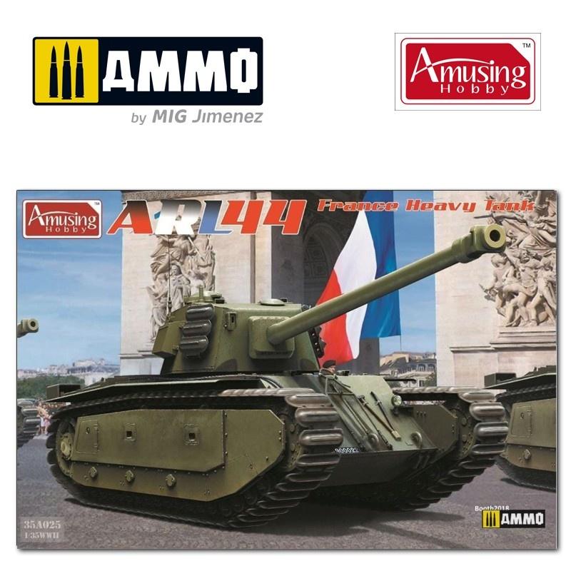 Amusing Hobby Arl44 French Heavy Tank - Scale 1/35 - Amusing Hobby - AH35A025