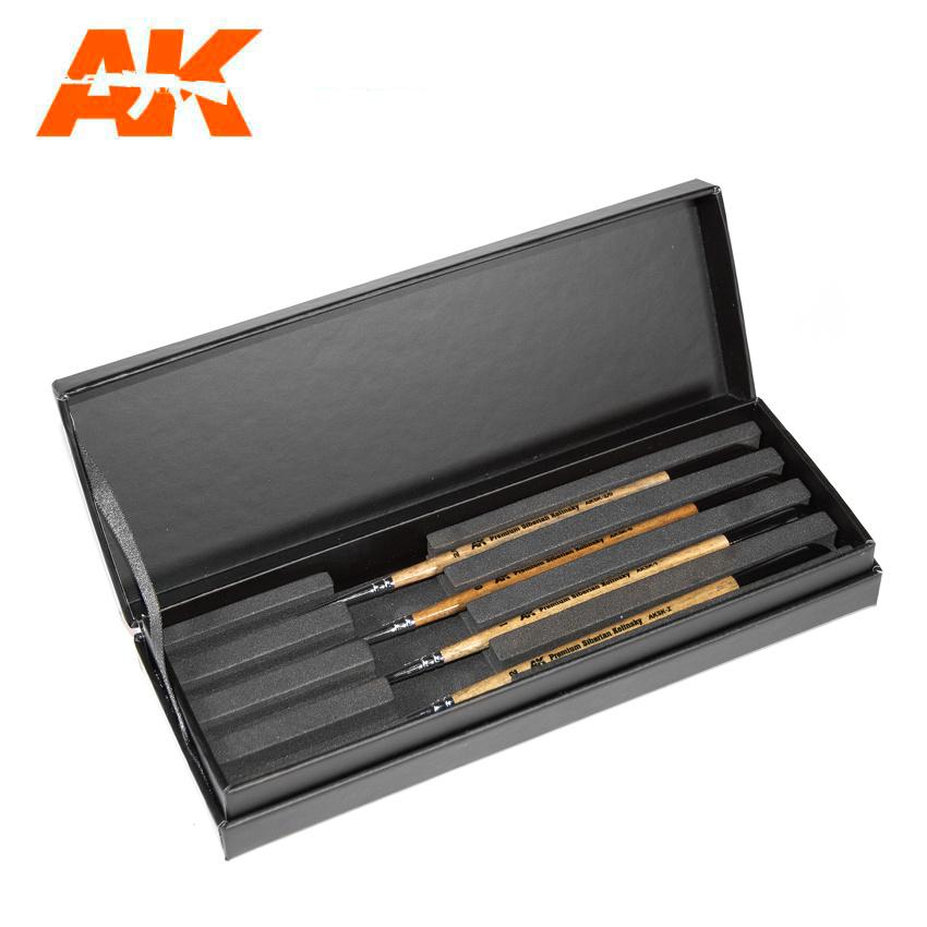 AK-Interactive Siberian Kolinsky Brushes Deluxe Case - AK-Interactive - AK-SK-10