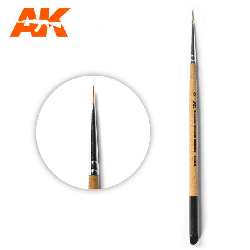 AK-Interactive Ak Premium Siberian Kolinsky Brush 0 - AK-Interactive - AK-SK-0