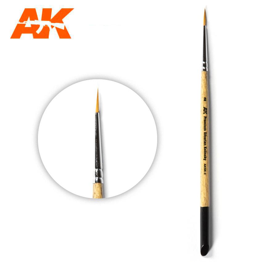 AK-Interactive Ak Premium Siberian Kolinsky Brush 2 - AK-Interactive - AK-SK-2