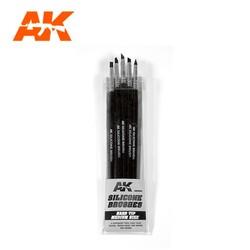 Set Of 5 Silicone Brushes Hard Tip Medium - AK-Interactive - AK-9088
