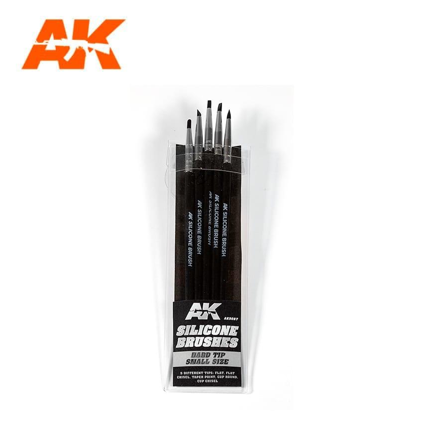 AK-Interactive Set Of 5 Silicone Brushes Hard Tip Small - AK-Interactive - AK-9087