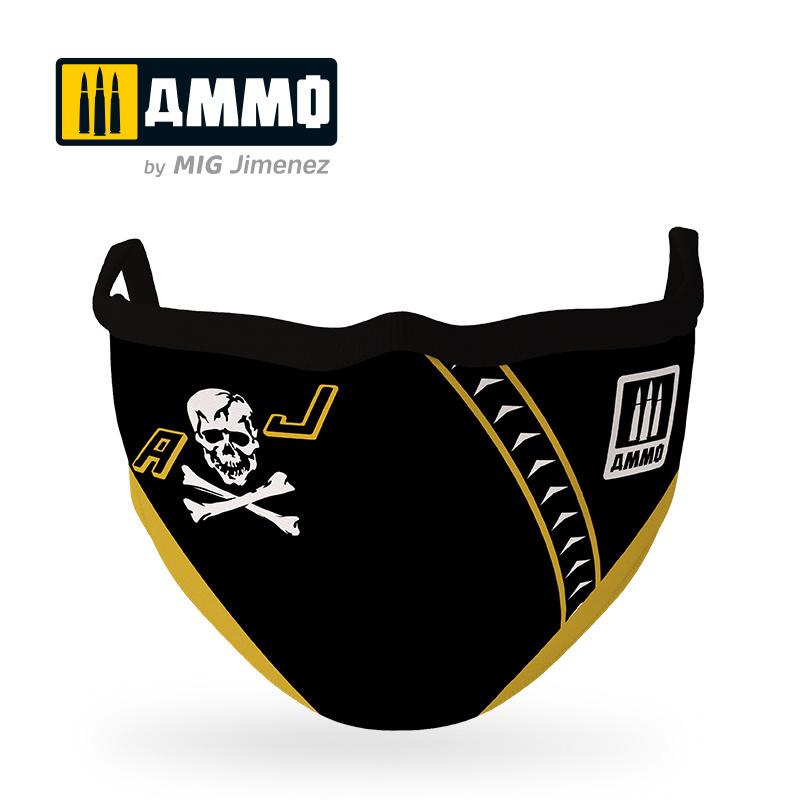 "Ammo by Mig Jimenez Ammo Face Mask ""Jolly Rogers "" (Hygienic Protective Mask 100% Polyester) - Ammo by Mig Jimenez - A.MIG-8070"