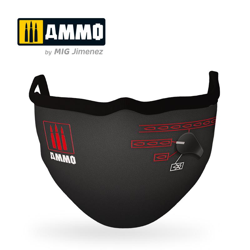 "Ammo by Mig Jimenez Ammo Face Mask ""Switch Mask"" (Hygienic Protective Mask 100% Polyester) - Ammo by Mig Jimenez - A.MIG-8071"