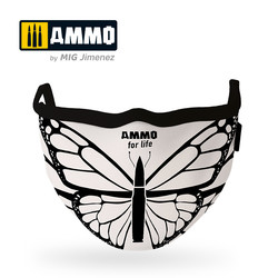 Ammo For Life Butterfly Face Mask (Hygienic Protective Mask 100% Polyester) - Ammo by Mig Jimenez - A.MIG-8074