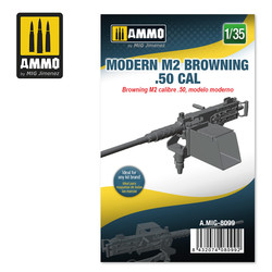 Moder M2 Browning .50 cal - Scale 1/35 - Ammo by Mig Jimenez - A.MIG-8099