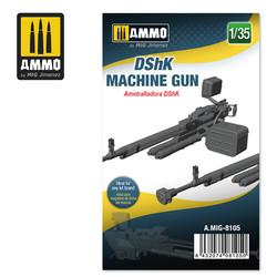 DShK Machine Gun - Scale 1/35 - Ammo by Mig Jimenez - A.MIG-8105