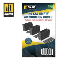 .30 cal Empty Ammunition Boxes - Scale 1/35 - Ammo by Mig Jimenez - A.MIG-8107