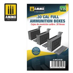 .30 cal Full Ammunition Boxes - Scale 1/35 - Ammo by Mig Jimenez - A.MIG-8108