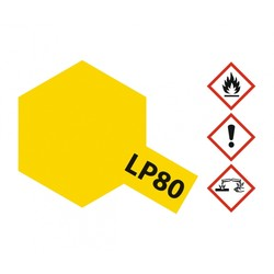 Lacquer Paint LP-80 Flat Yellow - 10ml - Tamiya - TAM82180