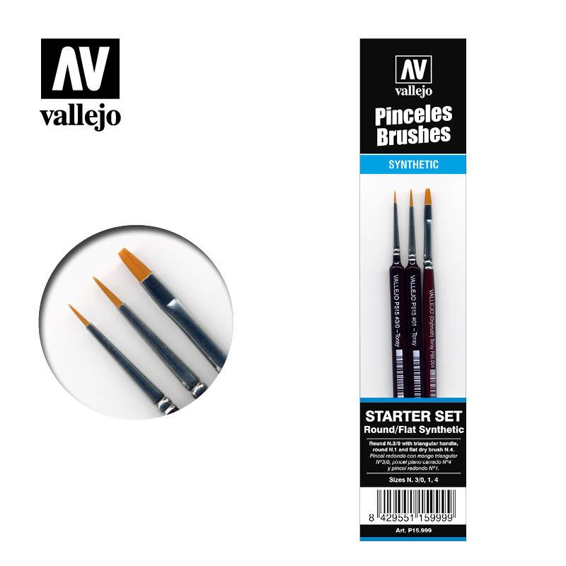 Vallejo Brush Set (3pcs) - Vallejo - VAL-15999
