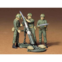 U.S. 107mm Mortar & Crew - Scale 1/35 - Academy - ACA-AA12
