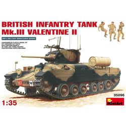 British Infantry Tank Mk.III Valentine II - Scale 1/35 - Miniart - MIT35096