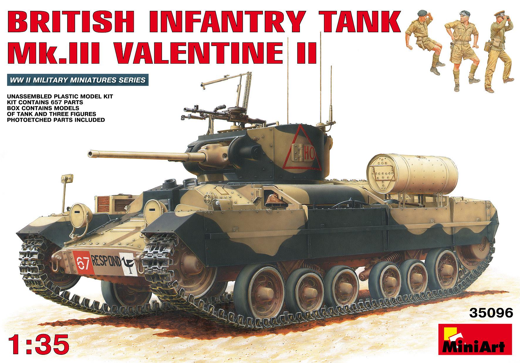 MiniArt British Infantry Tank Mk.III Valentine II - Scale 1/35 - Miniart - MIT35096