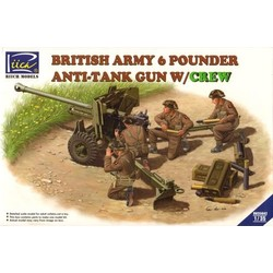 British Army 6 Pounder Anti-Tank Gun with Crew - Scale 1/35 - Riich Models - RIH RV35042