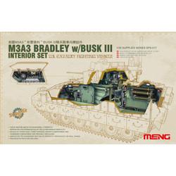 M3A3 Bradley w/BUSK III Interior Set - Scale 1/35 - Meng Model - MM SPS-017
