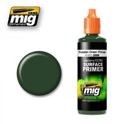 Russian Green Primer - 60ml - Ammo by Mig Jimenez - A.MIG-2009