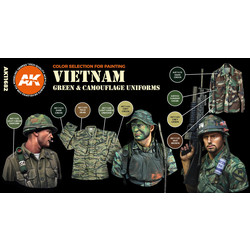 Vietnam Green And Camouflage Colors Set - AK-Interactive - AK-11682
