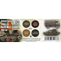 British Army Colors Europe 1941-44 Set - AK-Interactive - AK-11680
