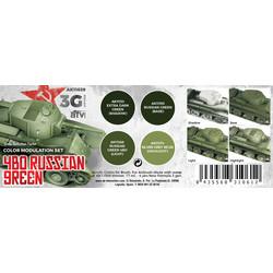 Modulation 4Bo Russian Green Set - AK-Interactive - AK-11639