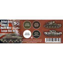 British Army Colors North-West Europe 1944-45 Set - 17ml - AK-Interactive - AK-11679
