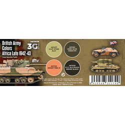 British Army Colors Africa, Late 1942-43 Set - AK-Interactive - AK-11678