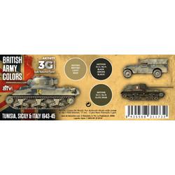 British Army Colors Tunisia, Sicily & Italy 1943-45 Set - AK-Interactive - AK-11677