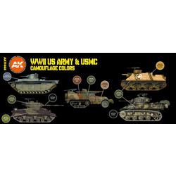 US.Army & USMC Camouflage Colors Set - AK-Interactive - AK-11668