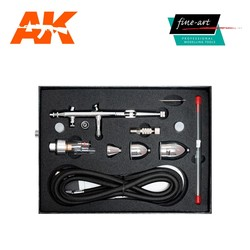Airbrush set 186AK Fine Art 0.2, 0.3, 0.5mm included - Fine Art - FA 186AK